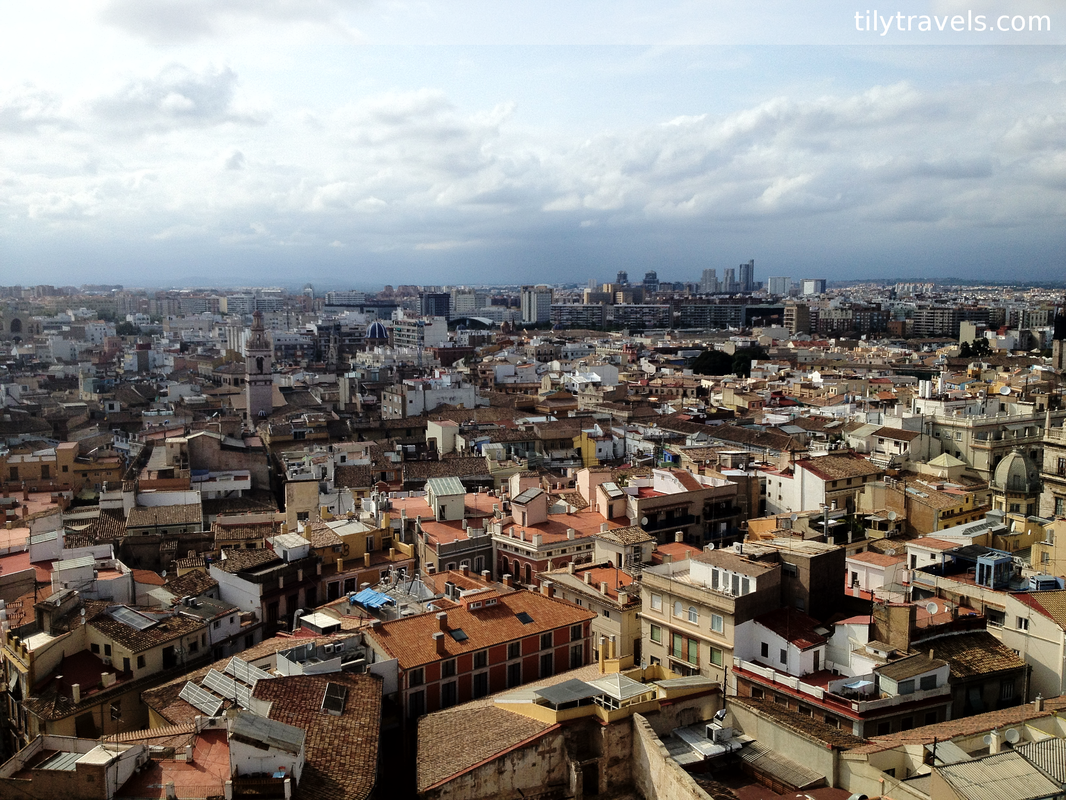 Valencia, Spain, photo diary - A view of Valencia from Valencia Cathedral bell tower.