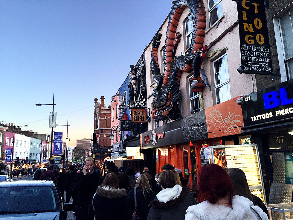 Walking from the Camden Market back to my hotel on Jamestown Road - Camden Town, London England - Tily Travels.