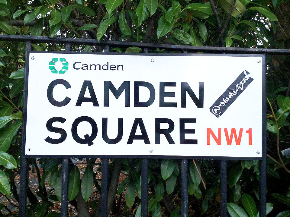 Camden Square street sign - Camden Town, London England - Tily Travels.