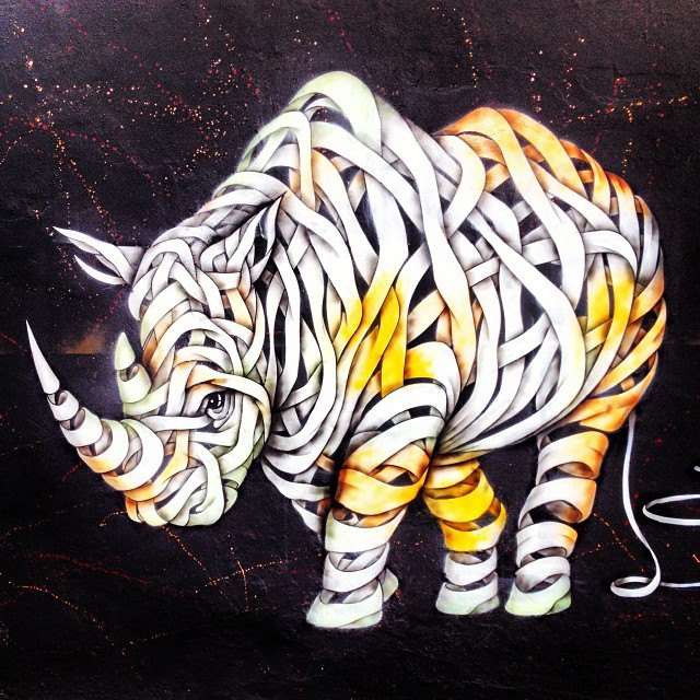Rhino by Otto Schade - Camden Town, London England - Tily Travels.