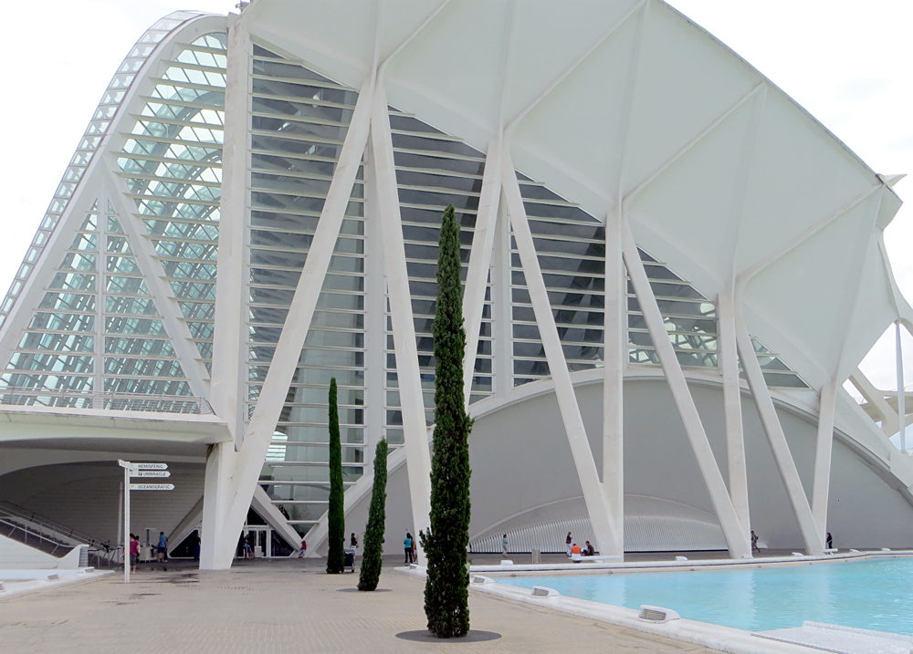 El Museu de les Ciències Príncipe Felipe, City of Arts and Sciences, Valencia, Spain.