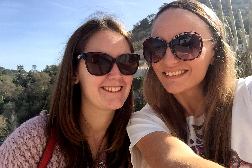 Selfies with my best friend and Sintra tour guide, Elise - The Fairytale Historic Centre of Sintra, Portugal - www.tilytravels.com