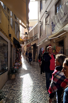 Retail stores on the narrow streets of Sintra. - The Fairytale Historic Centre of Sintra, Portugal - www.tilytravels.com