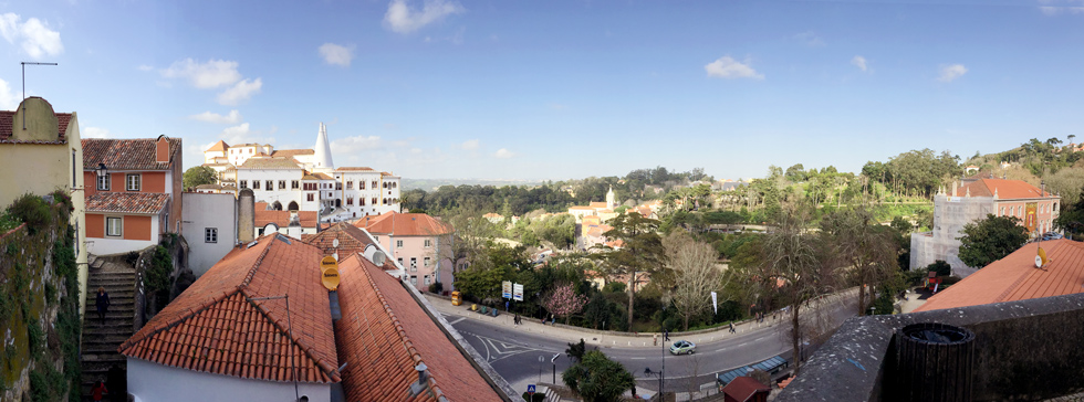 Panoramic view of Sintra. - The Fairytale Historic Centre of Sintra, Portugal - www.tilytravels.com