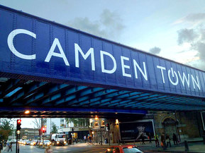The Camden Road rail bride/ overpass - Camden Town, London England - Tily Travels.
