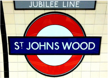 The St Johns Wood Underground Station sign - Abbey Road Crossing, London, England - Tily Travels.
