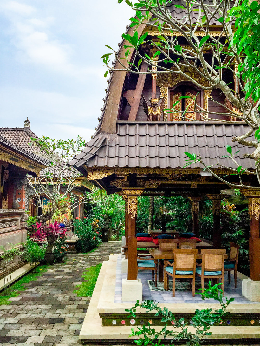 Stunning communal areas. Dwaraka, the Royal Villas, Ubud, Bali, Indonesia.