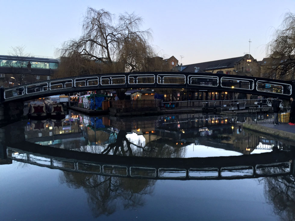 The footbridge crossing Camden Lock leading to the Camden Market - Camden Market, Camden Town, London - Tily Travels.