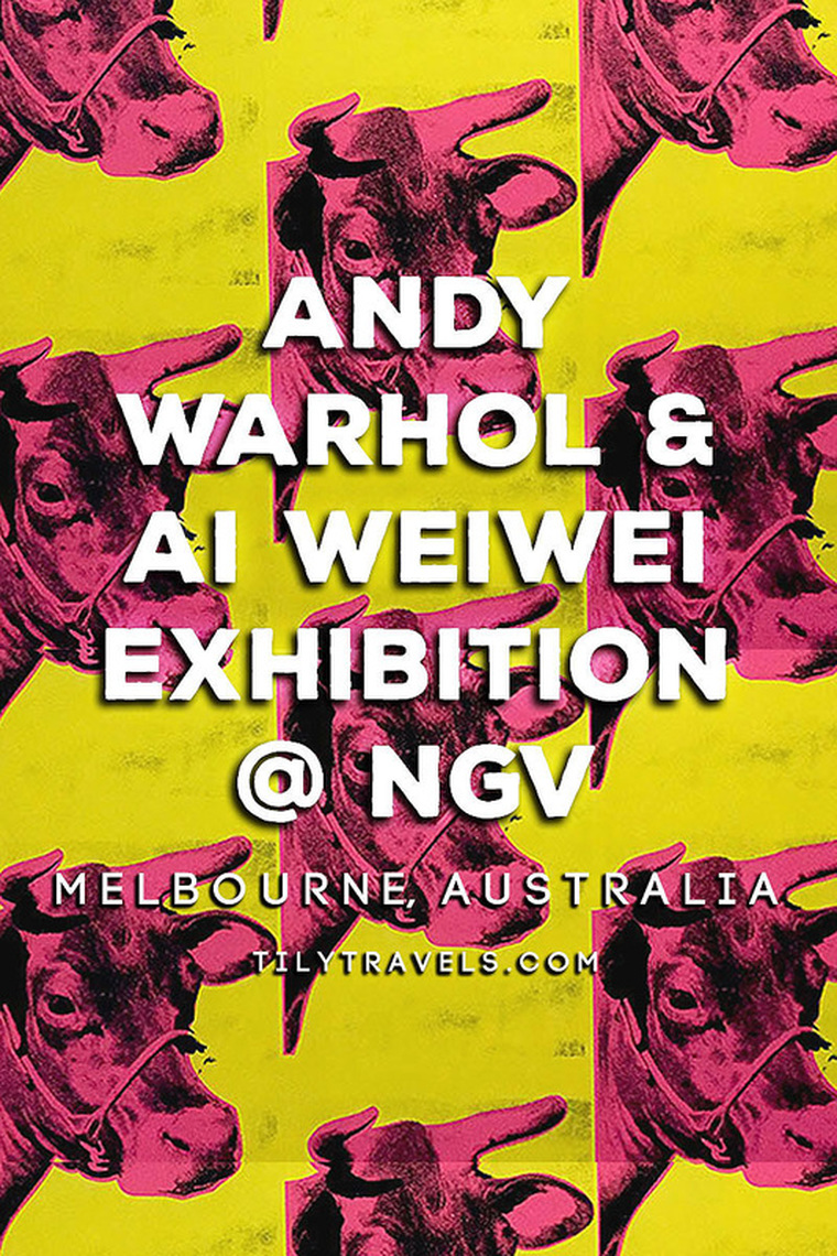 Andy Warhol & Ai Weiwei Exhibition at NGV - Cow Wallpaper - Tily Travels.