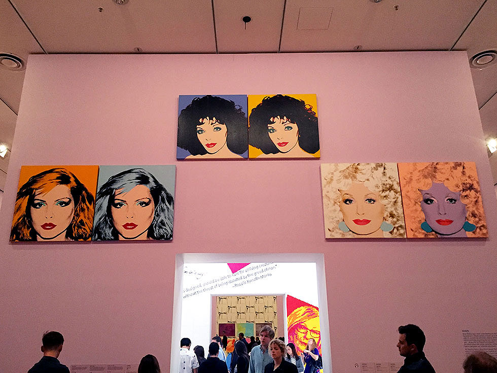 Andy Warhol & Ai Weiwei Exhibition at NGV - Silkscreens by Andy Warhol, Debbie Harry, Joan Collins & Dolly Parton - Tily Travels.