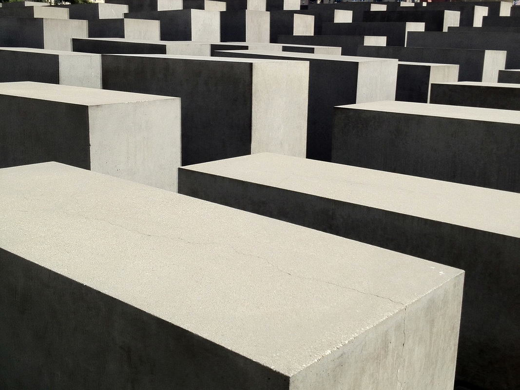Holocaust Memorial, Berlin, Germany - Concrete columns - Tily Travels.