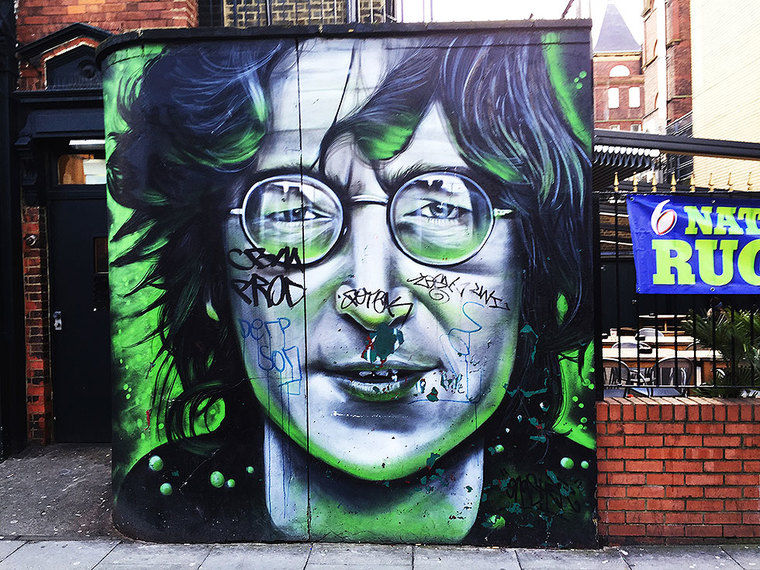 John Lennon by Gnasher, Jamestown Road, Camden Town - Camden Town Street Art, London England - Tily Travels.