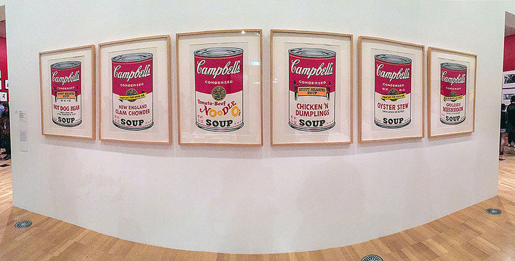 Andy Warhol & Ai Weiwei Exhibition at NGV - Campbell's Soup Cans, Andy Warhol - Tily Travels.