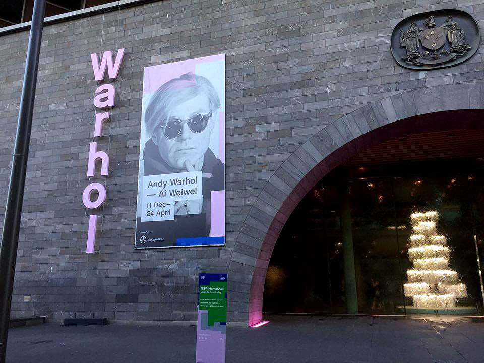 Andy Warhol & Ai Weiwei Exhibition at NGV - the National Gallery of Victoria - Tily Travels.