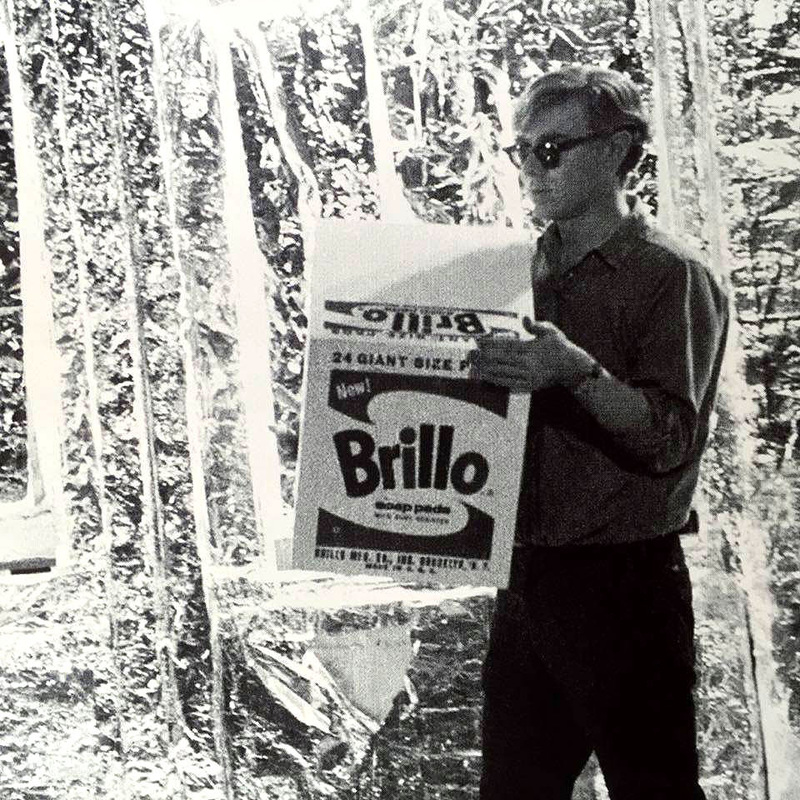 Andy Warhol & Ai Weiwei Exhibition at NGV - Photo of Andy Warhol and a Brillo Box - Tily Travels.