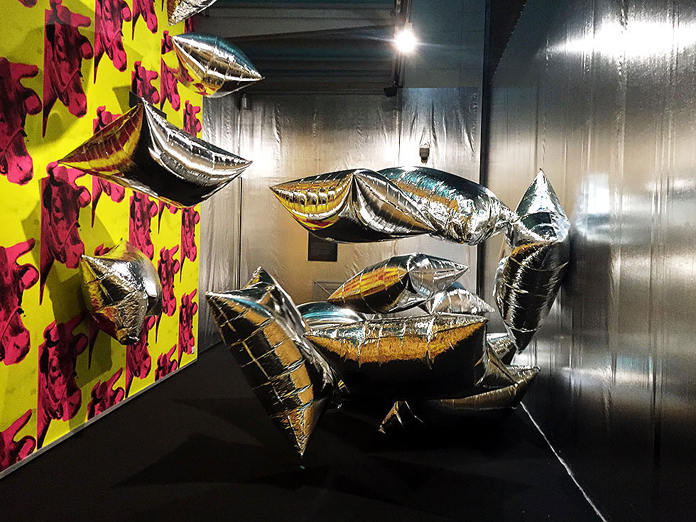 Andy Warhol & Ai Weiwei Exhibition at NGV - Silver Clouds by Andy Warhol - Tily Travels.
