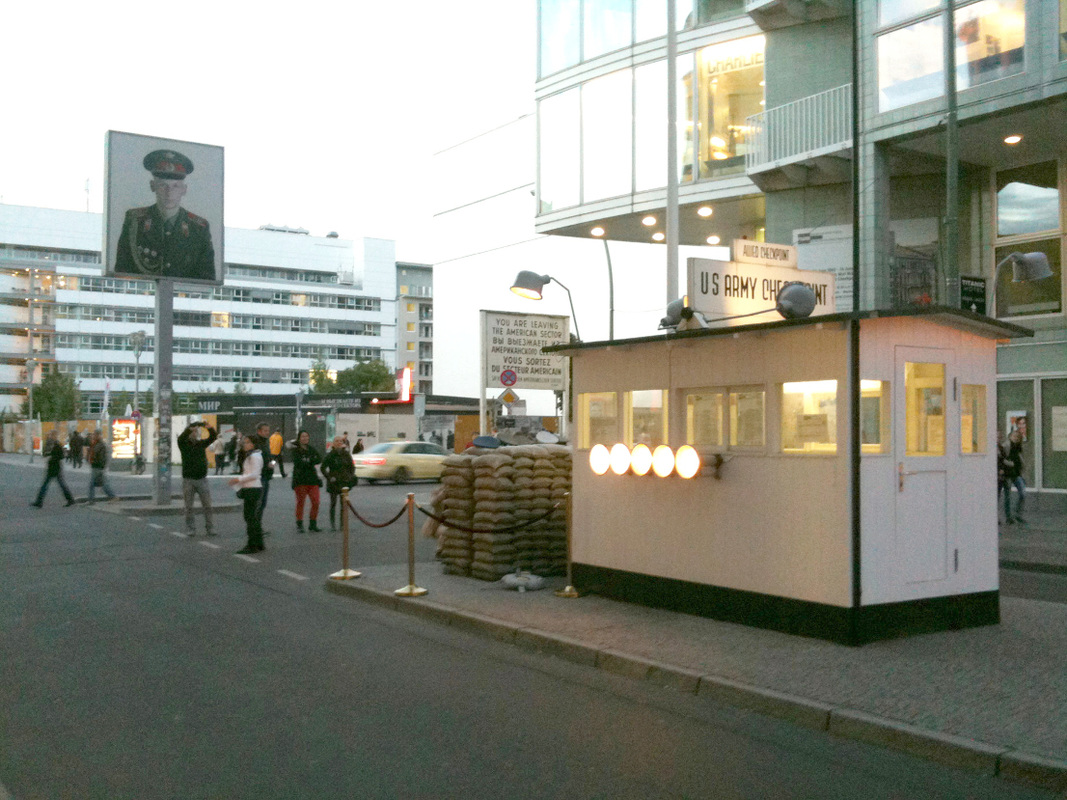 Checkpoint Charlie, Berlin, Germany - The checkpoint.