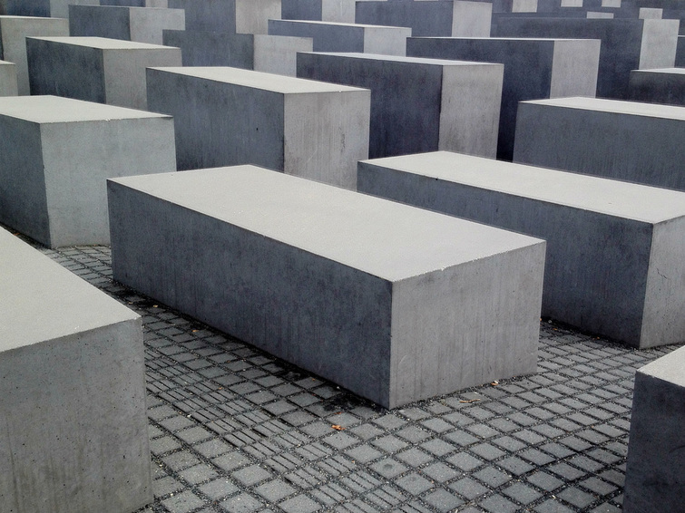 Holocaust Memorial, Berlin, Germany - Concrete columns. - Tily Travels