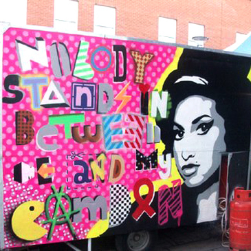 Nobody Stands in Between me and my Camden (Amy Winehouse), Iverness Street Market, Artisans Crêpier Cart, Camden Town - Camden Town Street Art, London England - Tily Travels.