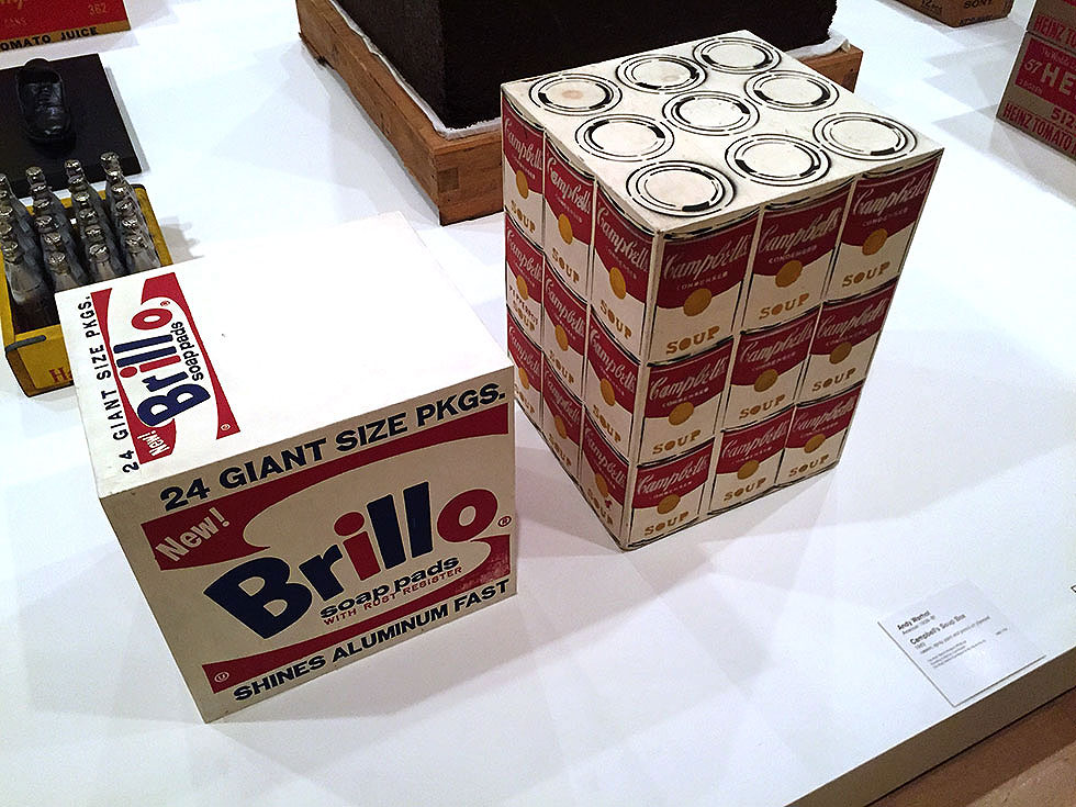 Andy Warhol & Ai Weiwei Exhibition at NGV - A Brillo Soap Pad Box and a Campbell's Soup Can Boxes by Andy Warhol - Tily Travels.