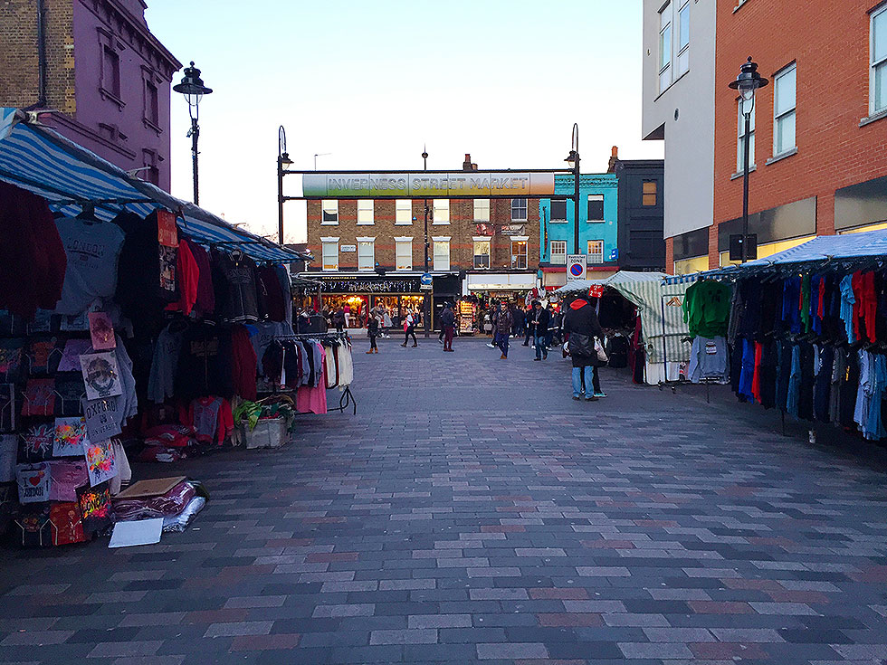 The Iverness Street Market, running off Camden High Street - Camden Market, Camden Town, London - Tily Travels.