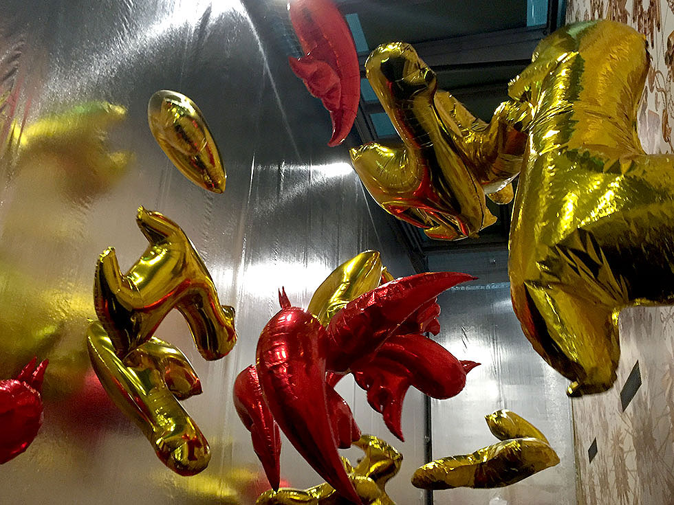 Andy Warhol & Ai Weiwei Exhibition at NGV - Caonima Balloon (bird balloon), Ai Weiwei - Tily Travels.