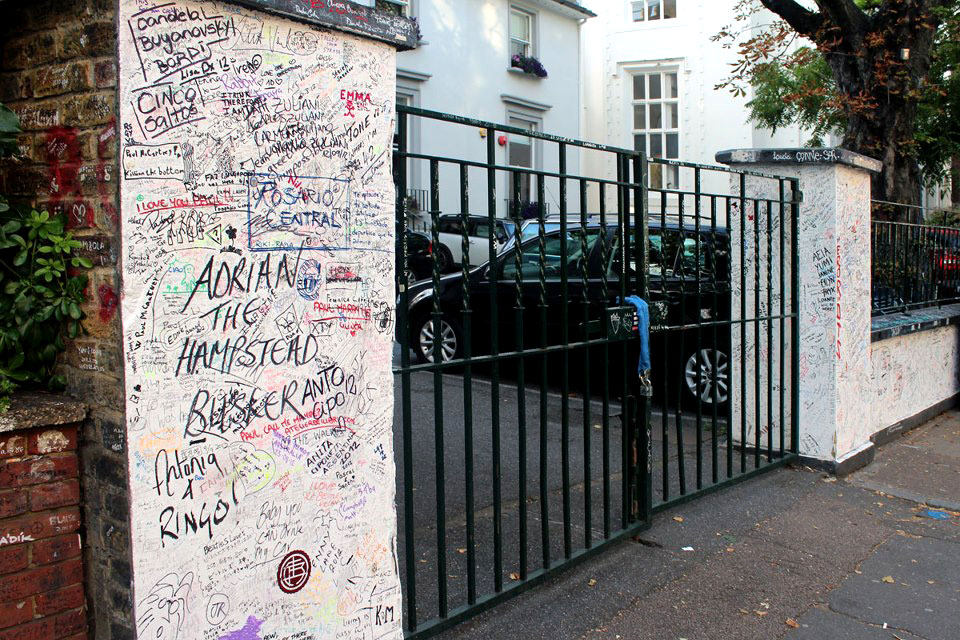 Abbey Road Studios fence - Abbey Road Crossing, London, England - Tily Travels.
