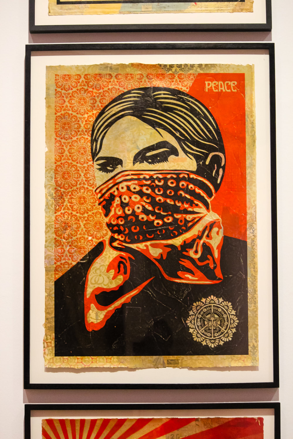 Singapore: Art From The Streets Exhibition at the ArtScience Museum - Zapatista Woman - Shepard Fairey - 2005.