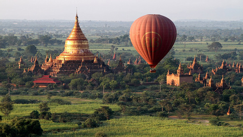 10 of the Best Places in the World to go Hot Air Ballooning: Bagan, Myanmar (Burma).