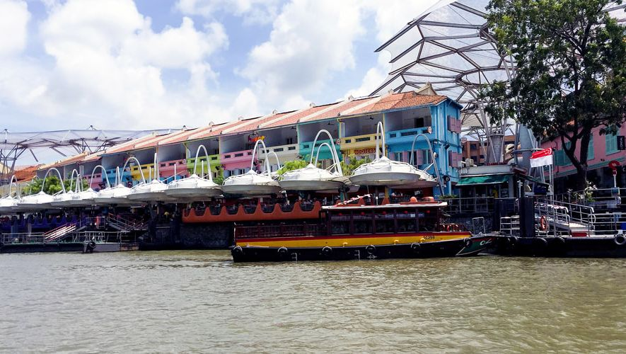 Colourful Clarke Quay - Singapore River Cruise