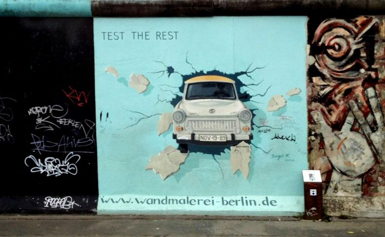 East Side Gallery, Berlin, Germany - Test the best, test the rest (2012)