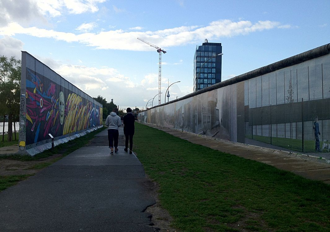 East Side Gallery, Berlin, Germany - The rear of the gallery.