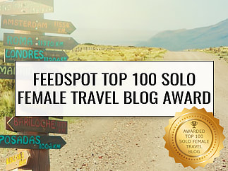 Feedspot Top 100 Solo Female Travel Blog Award
