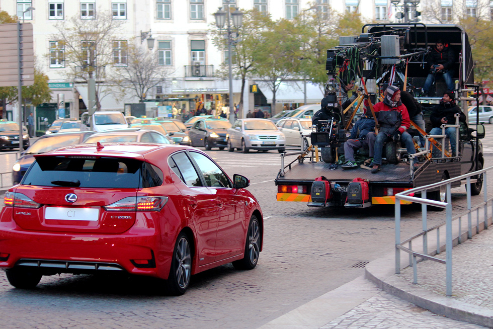 Filming the Lexus CT500h outside of Rossio Train Station - Pombaline-Baixa, Lisbon - Portugal.