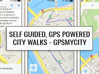 Self guided, GPS powered city walks with GPSmyCity.