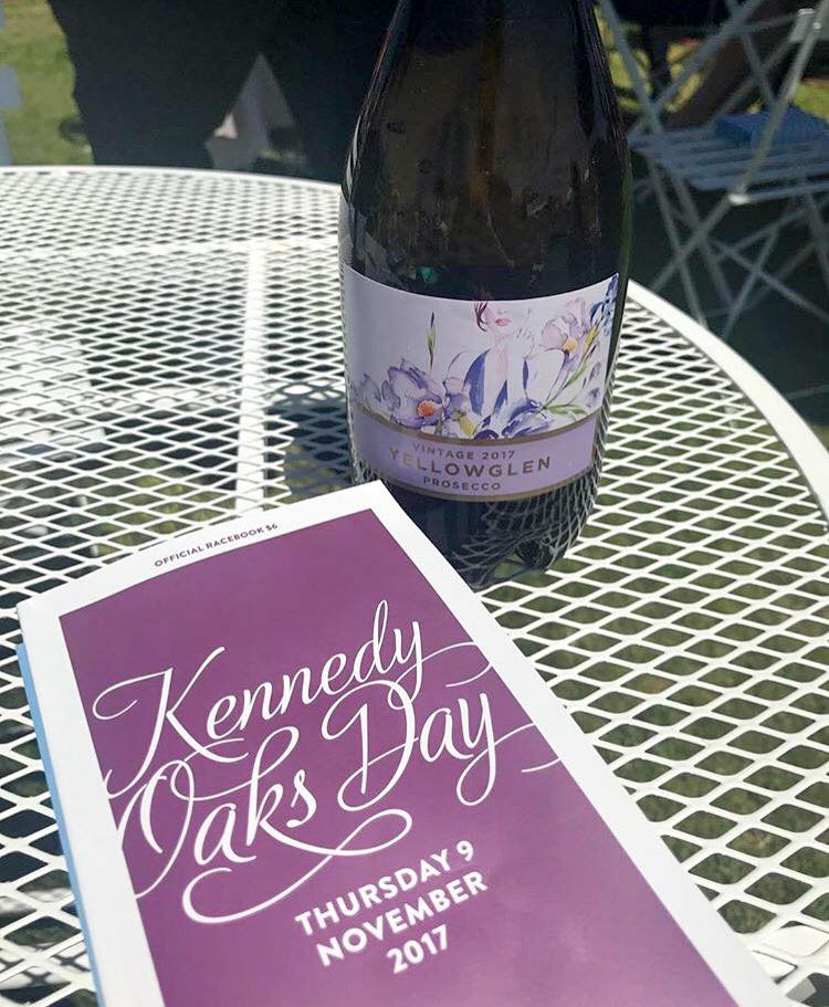 Kennedy Oaks Day 2017 booklet and Yellowglen prosecco. Flemington Racecourse.