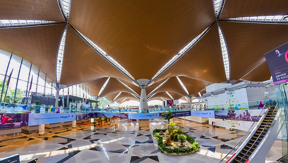 Kuala Lumpur International Airport (KLIA), Main Terminal Building - Source: Wikipedia.