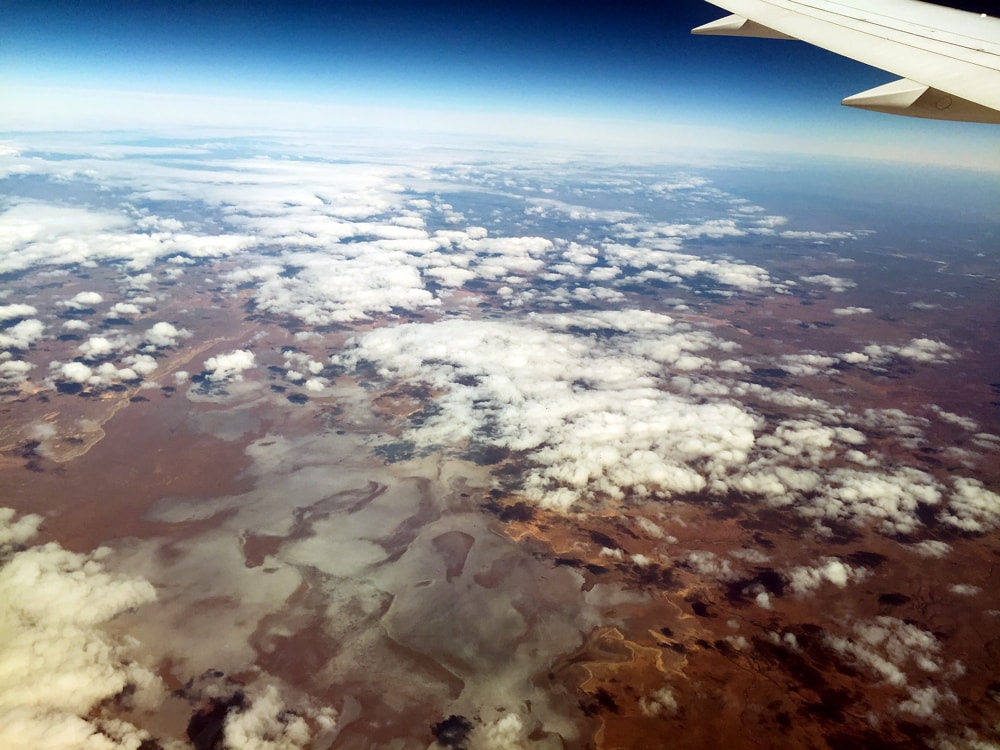 Aerial view of Lake Torrens National Park, South Australia - Jetstar Melbourne to Singapore Flight JQ 007.