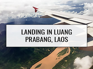 Luang Prabang: Flying Over the Jungle on Arrival into Laos (AirAsia 617)