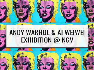 Andy Warhol and Ai WeiWei Exhibition at the National Gallery of Victoria, Melbourne, Australia.