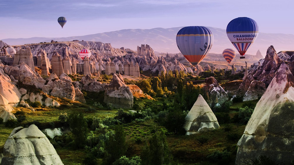 10 of the Best Places in the World to go Hot Air Ballooning: Cappadocia, Turkey.