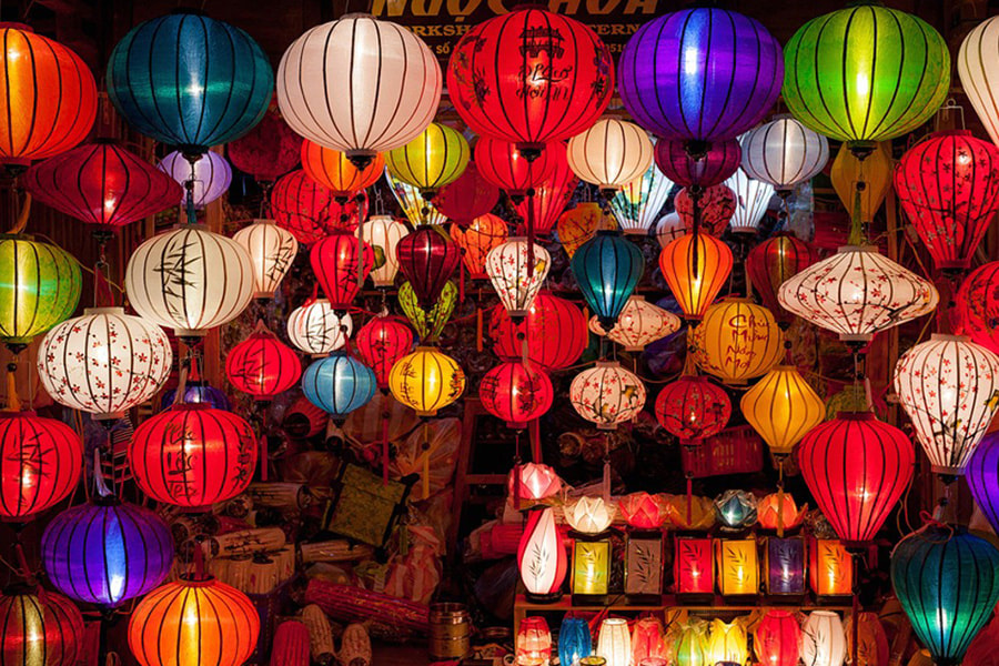 Perfect Destinations in Vietnam for a Family Travelling with Kids - Part 2 - Colourful lanters at the Night Market, Hoi An, Vietnam.
