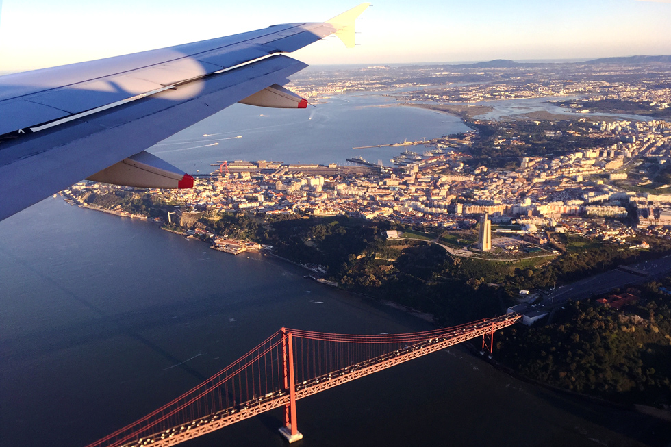 Gorgeous Lisbon, 25 de Abril Bridge and the Christ the King statue from above - Landing in Lisbon - Tilytravels