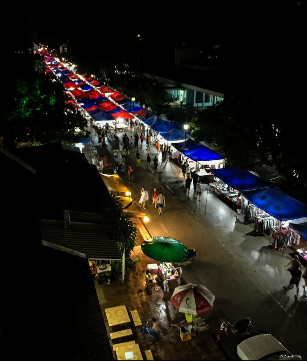 The night market, Luang Prabang, Laos.