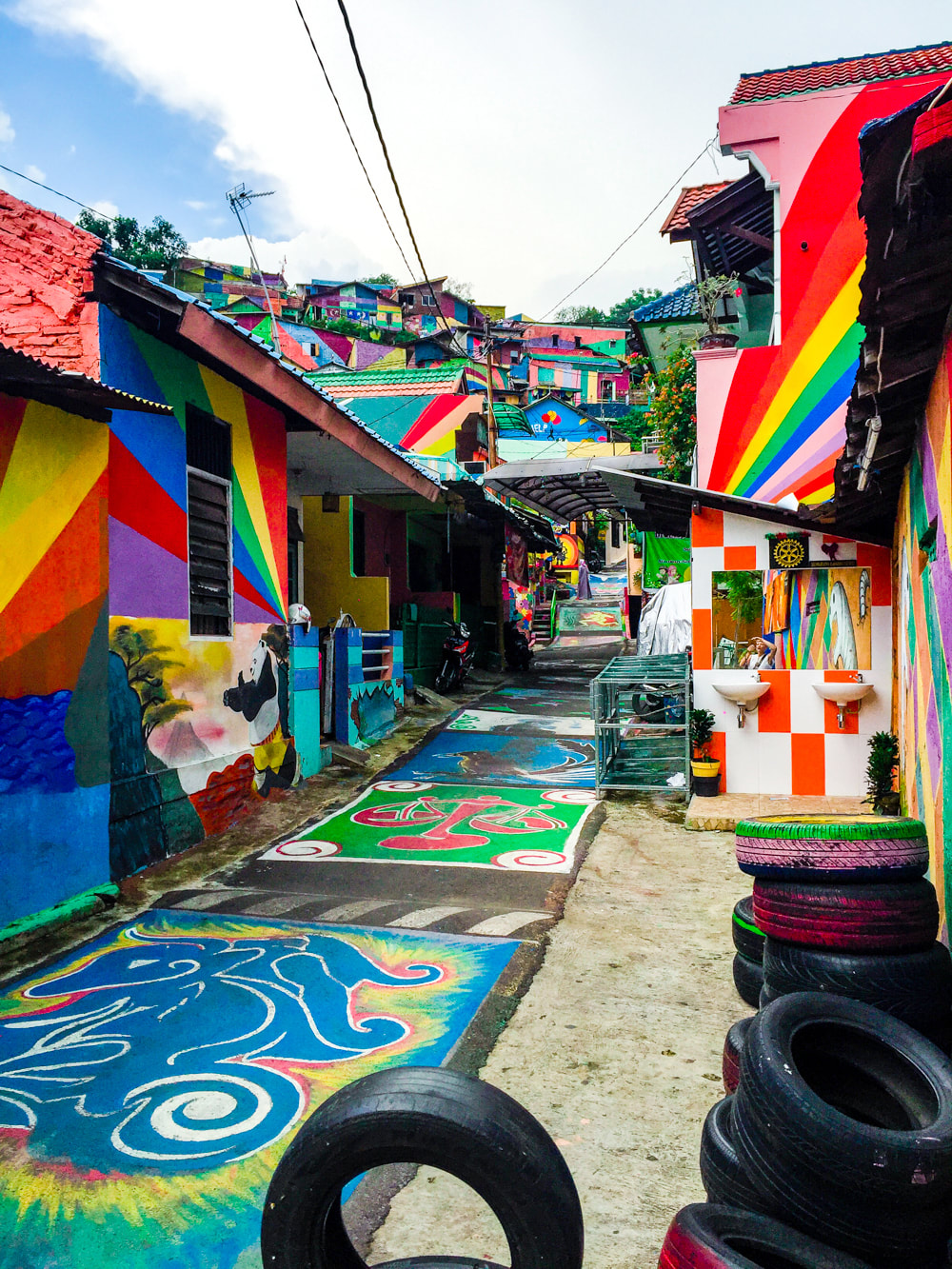 Colourful Kampung Pelangi (The Rainbow Village) Photo Diary. Wonosari, Semarang, Java, Indonesia.