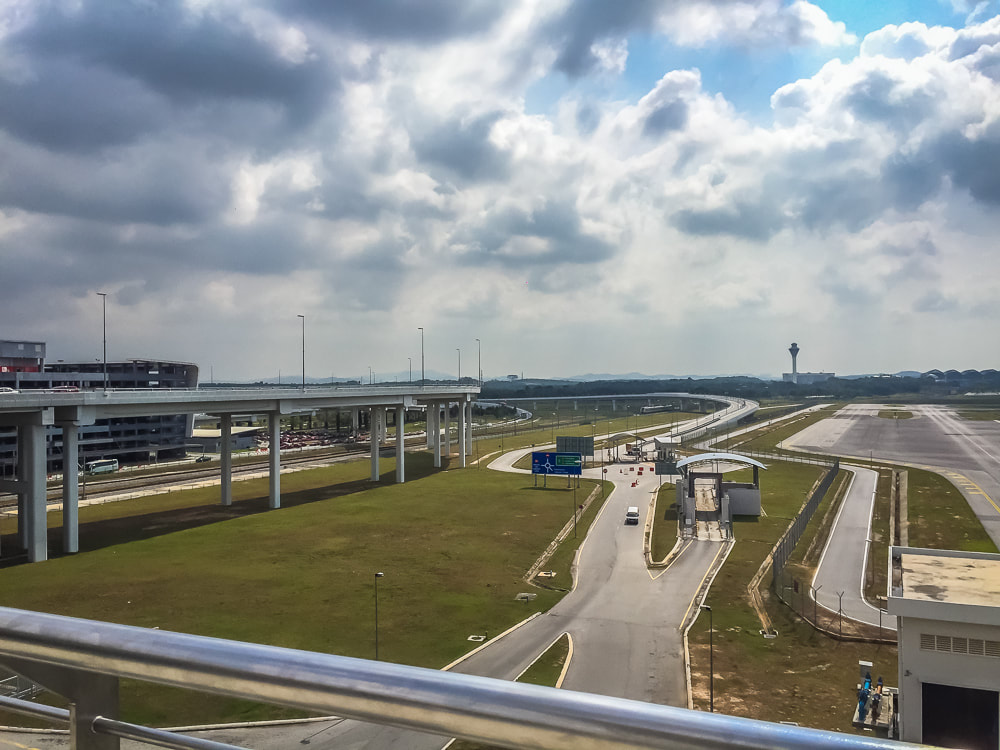 The view from the balcony, accessed from inside the international terminal at KLIA, Sepang, Malaysia.