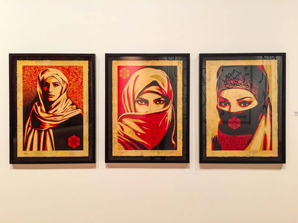 Singapore: Art From The Streets Exhibition at the ArtScience Museum - Your Eyes Here / Malaga - Shepard Fairey (Obey) - 2015.
