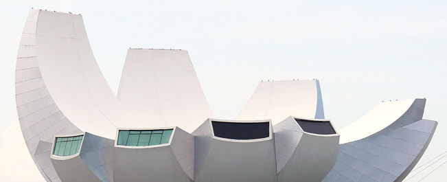 The architecturally stunning ArtScience Museum, Singapore.