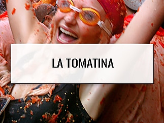 Covered in tomatoes - La Tomatina, Bunol, Spain