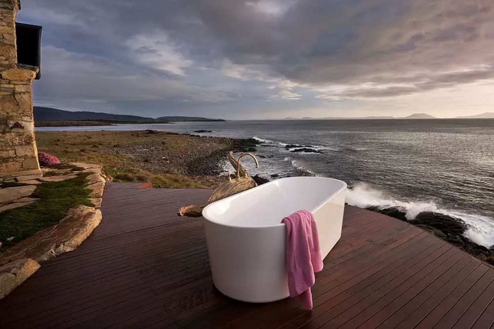 4 Ways To Plan A Killer Staycation This Winter. Thalia Unique Oceanfront Retreat, Little Swanpoint, Tasmania.